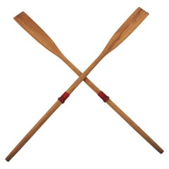 Pair of Spanish Boat Oars or Wooden Paddles