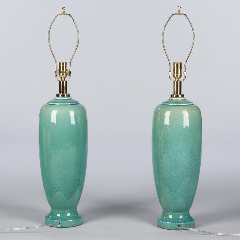 Pair of Spanish Ceramic Lamps by Acanto Division, 1960s For Sale 4