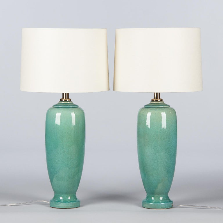 Pair of Spanish Ceramic Lamps by Acanto Division, 1960s For Sale 7