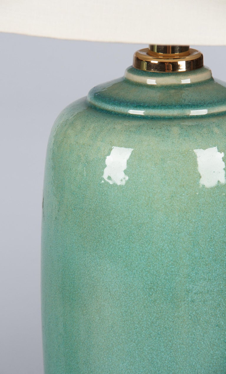 Pair of Spanish Ceramic Lamps by Acanto Division, 1960s For Sale 2