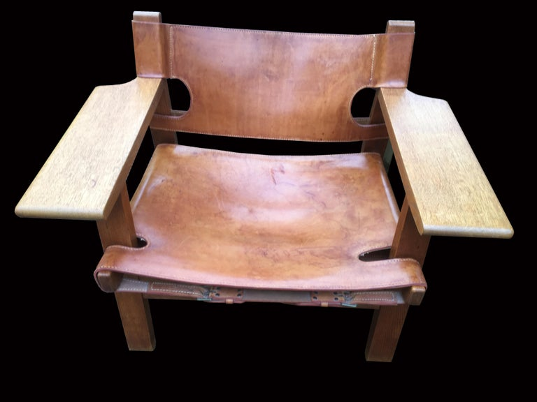 20th Century Pair of 'Spanish Chairs' by Borge Mogensen for Fredericia For Sale
