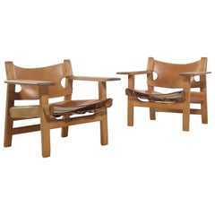 Pair of 'Spanish Chairs' by Borge Mogensen for Fredericia