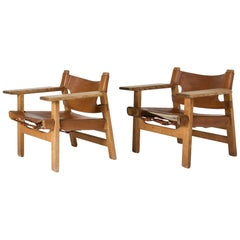 "Pair of ""Spanish Chairs"" by Børge Mogensen"