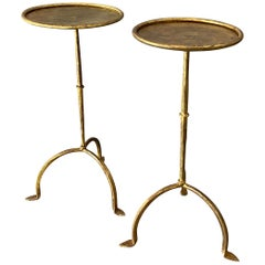 Pair of Spanish Gilt Iron Martini Tables