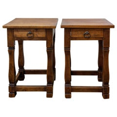 Pair of Spanish Nightstands Side Cabinets Bedside Tables Midcentury