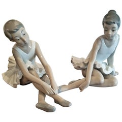 Pair of Spanish Porcelain Ballet Dancers by Nao