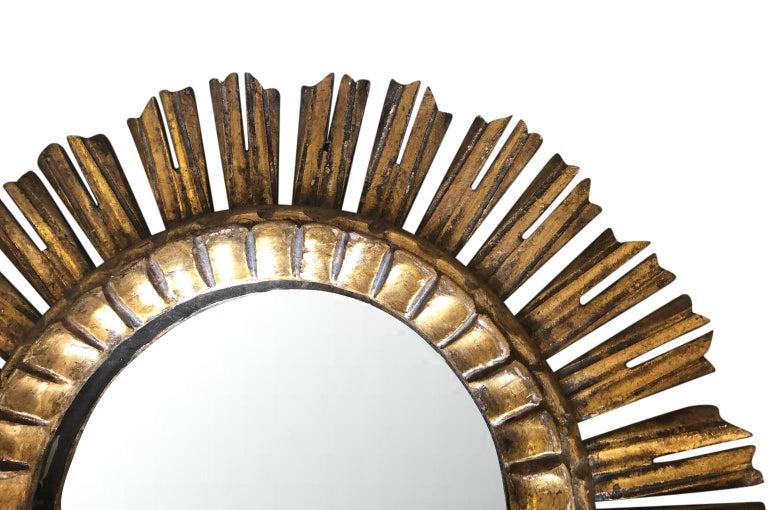 20th Century Pair of Spanish Sunburst Mirrors