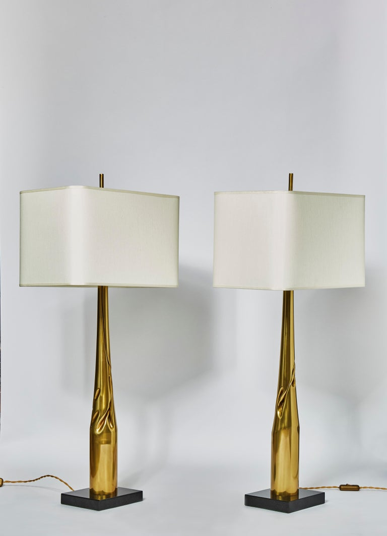 Pair of Spectre Table Lamps by Esperia for Glustin Luminaires In Excellent Condition For Sale In Saint-Ouen, IDF