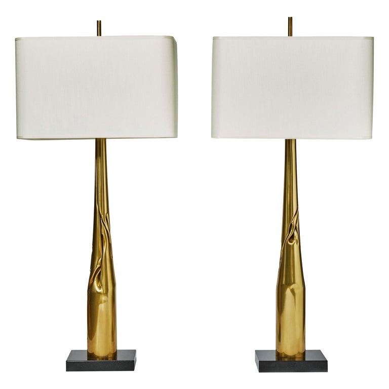 Pair of Spectre Table Lamps by Esperia for Glustin Luminaires For Sale