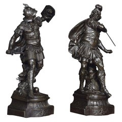 Pair of Spelter Figures of Knights