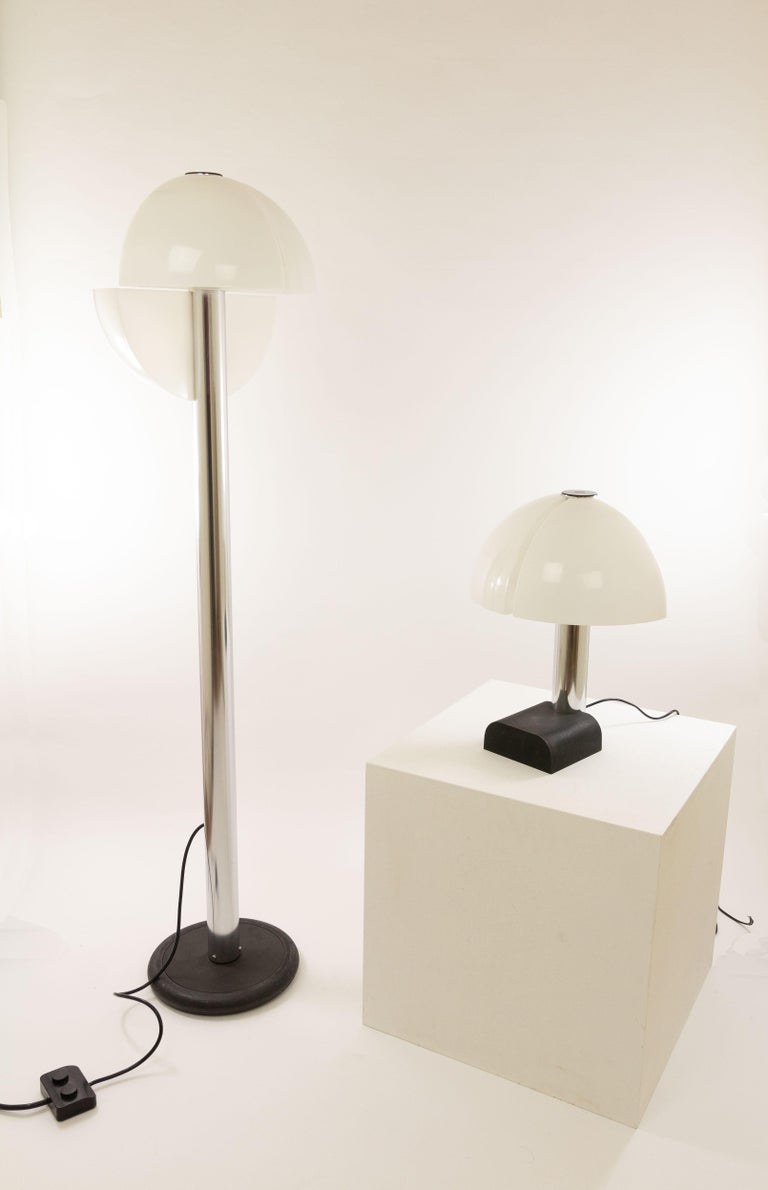Metal Pair of Spicchio Wall Lamps by Corrado and Danilo Aroldi for Stilnovo, 1970s For Sale