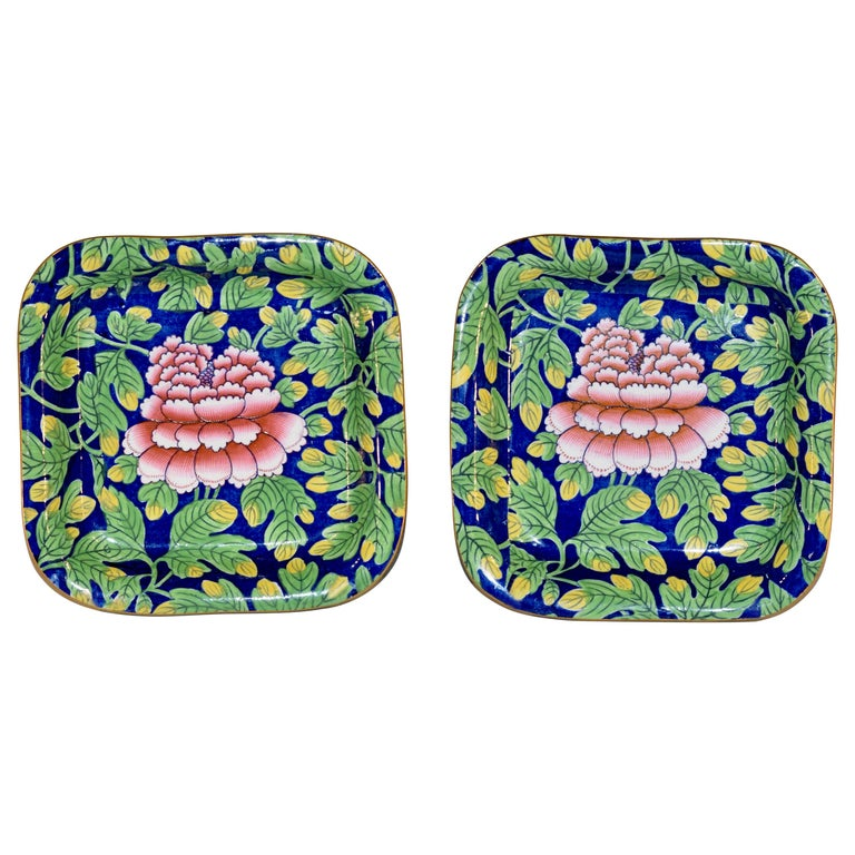 """Pair of Spode """"Peony 2"""" Pattern Dishes For Sale"""