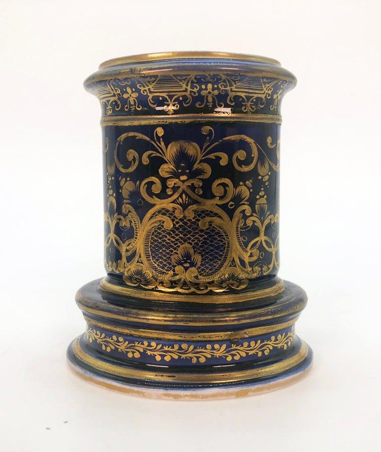 Regency Pair of Spode Porcelain Spill Vases, circa 1820 For Sale