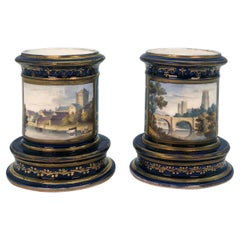 Pair of Spode Porcelain Spill Vases, circa 1820