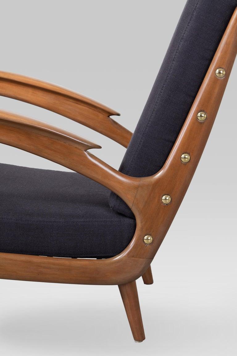 Pair of Sprij Vlaardingen Stunning Organic Cherrywood Armchairs In Good Condition For Sale In Torino, IT