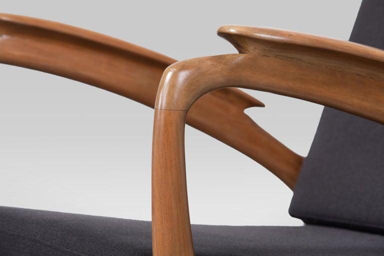 Pair of Sprij Vlaardingen Stunning Organic Cherrywood Armchairs For Sale 1