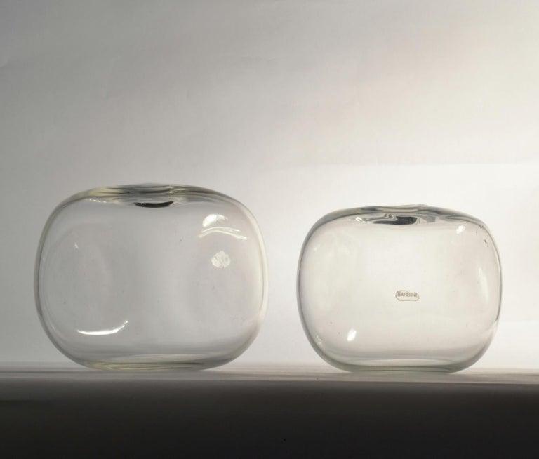 Mid-Century Modern Pair of Square Barbini Vases