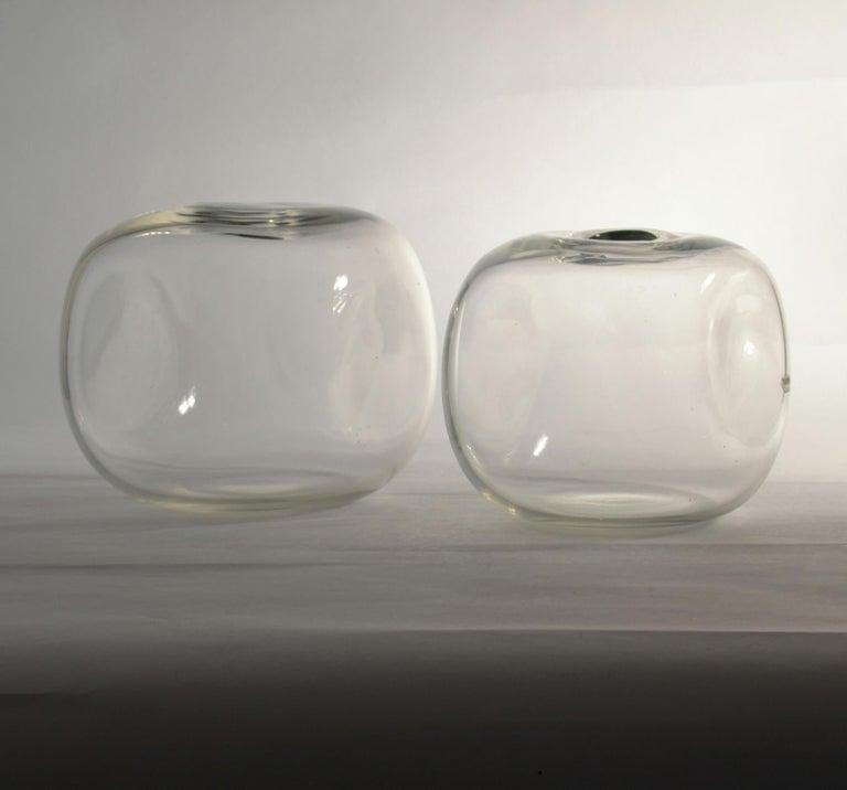 Italian Pair of Square Barbini Vases