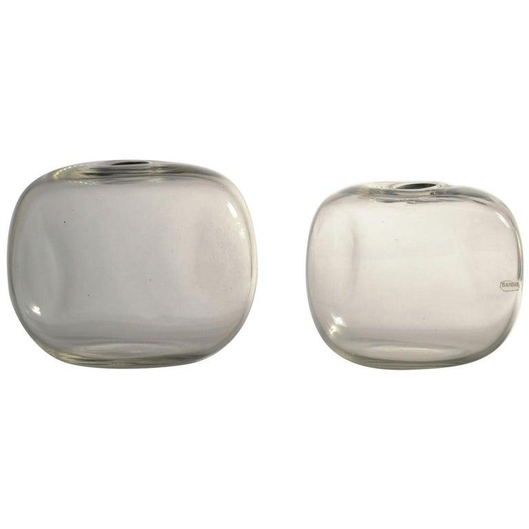Pair of Square Barbini Vases