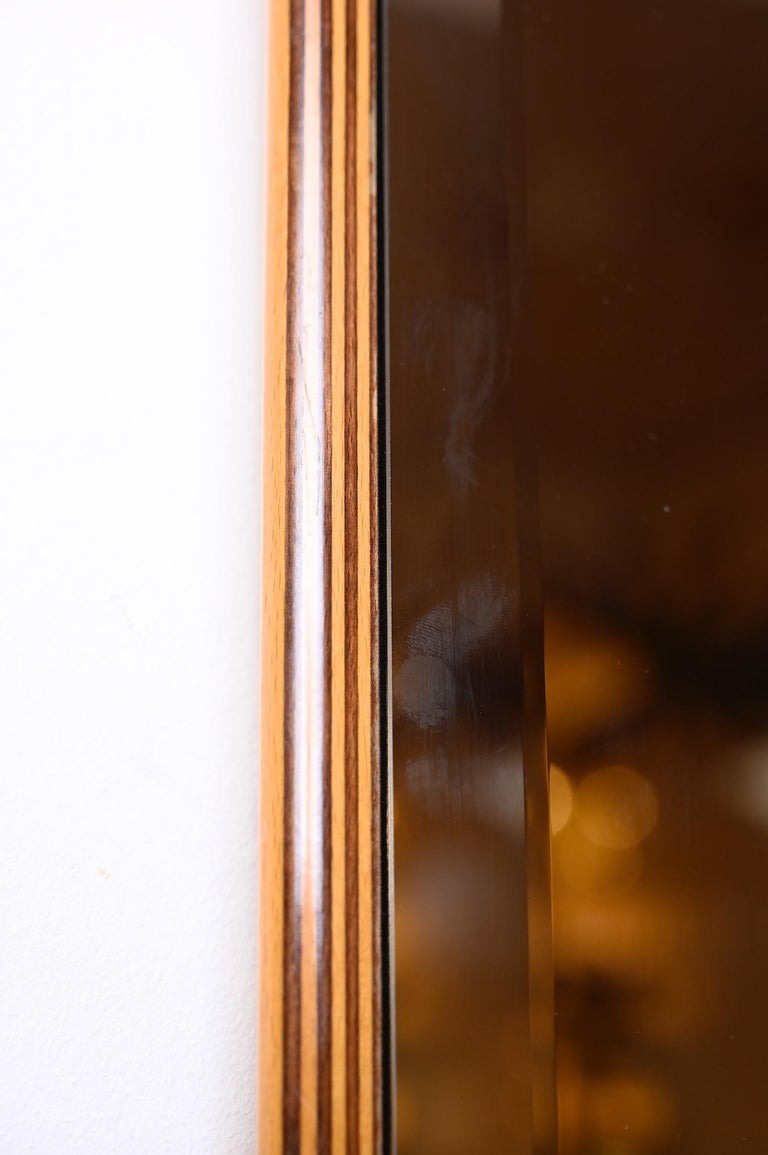 Pair of Square Bronzed Beveled Mirrors In Good Condition For Sale In London, GB