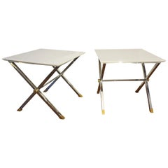 Pair of Square Coffee Tables, Italy, 1970s