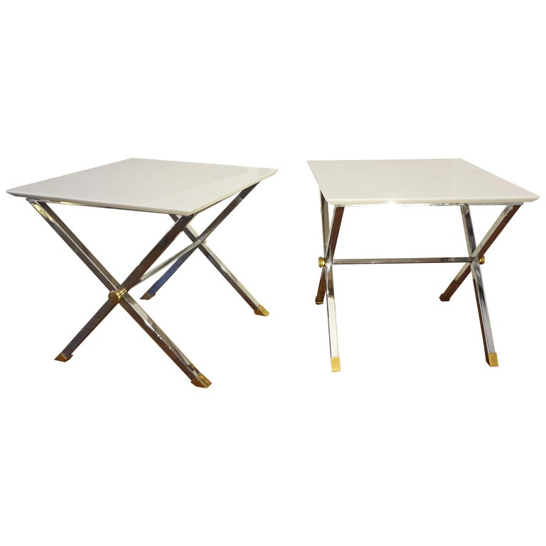 Pair Of Square Coffee Tables Italy 1970s For Sale At 1stdibs
