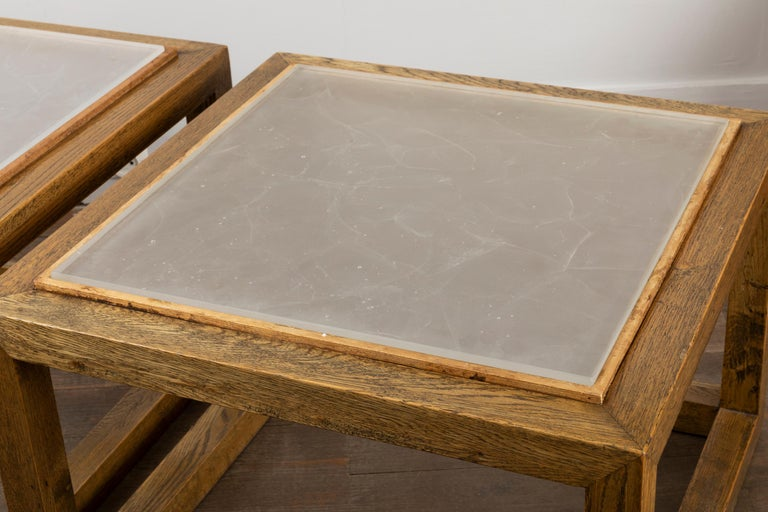 Pair of Square End Tables, France, 1970s In Good Condition For Sale In Paris, Ile-de-France