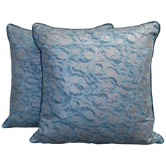 Pair of Square Fortuny Pillows