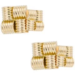 Pair of Square Gold Cufflinks