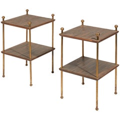 Pair of Square Side Tables by Jean Royère, circa 1950