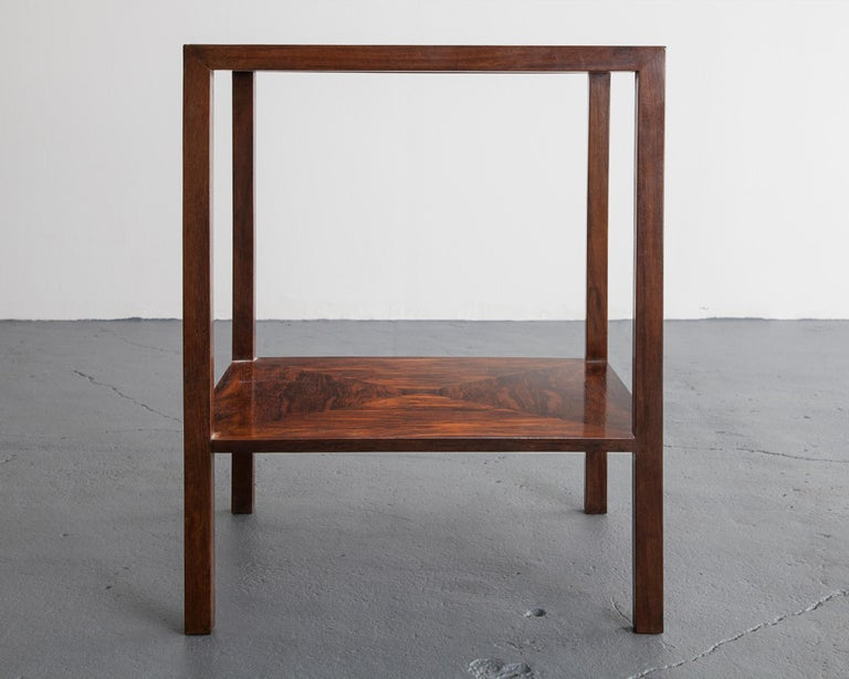 Brazilian Pair of Square Side Tables by Joaquim Tenreiro For Sale