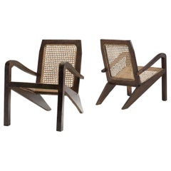 Pair of Sri Lankan Easy Armchairs, Sri Lanka, Late 20th Century