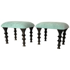 Pair of St Paul Stools by Bourgeois Boheme Atelier