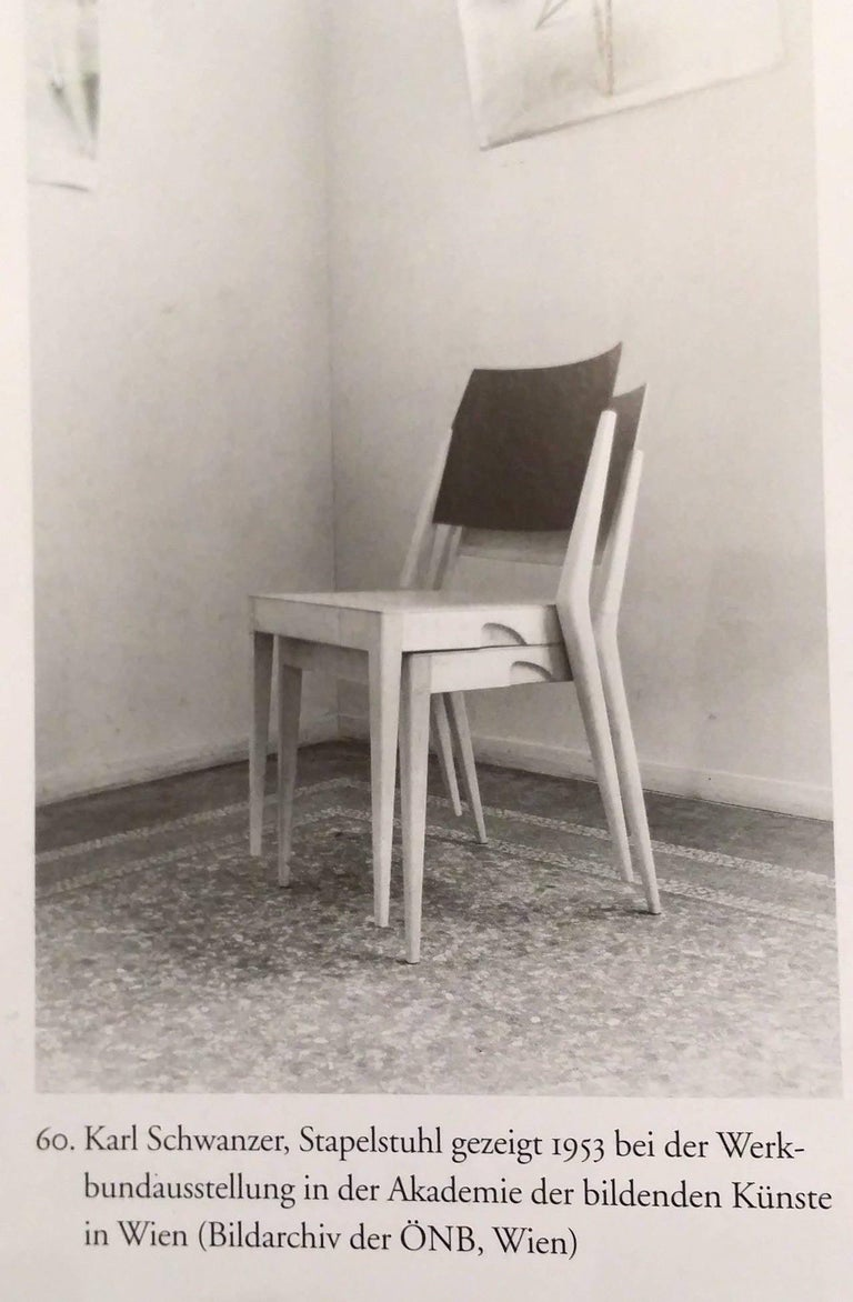Pair of Stacking Chairs by Karl Schwanzer, Thonet, Austria, 1950s For Sale 2