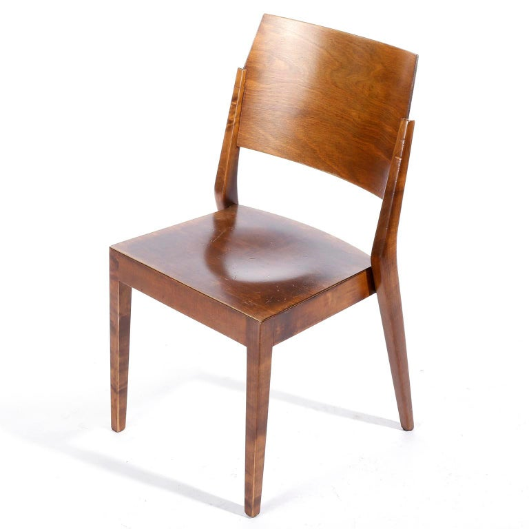 Mid-Century Modern Pair of Stacking Chairs by Karl Schwanzer, Thonet, Austria, 1950s For Sale