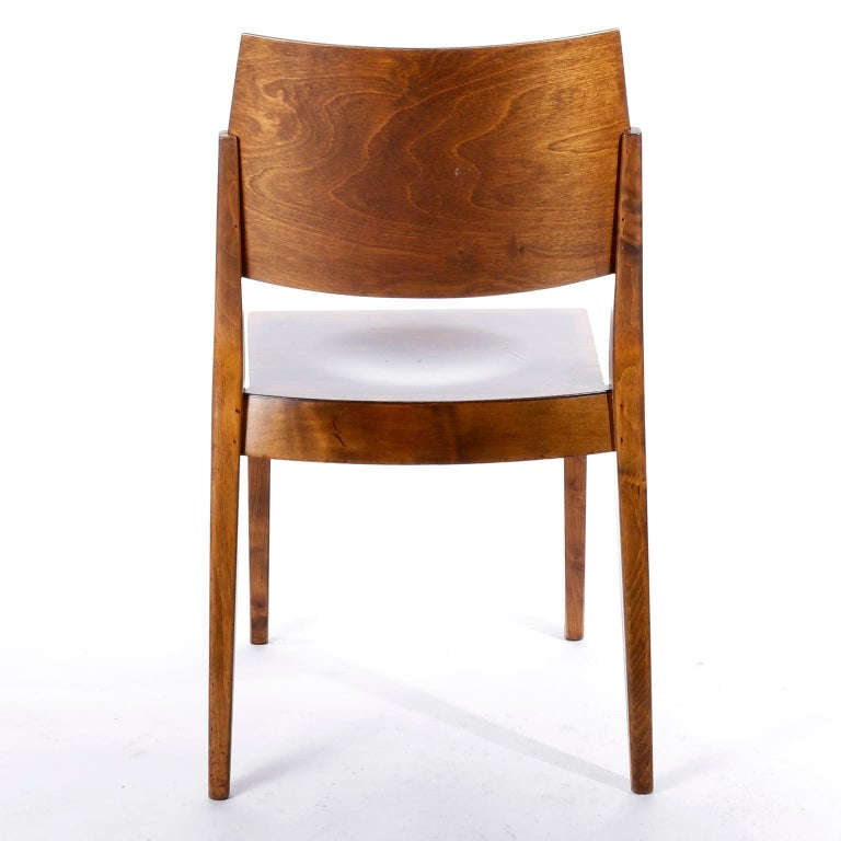 Pair of Stacking Chairs by Karl Schwanzer, Thonet, Austria, 1950s In Good Condition For Sale In Vienna, AT