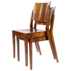 Pair of Stacking Chairs by Karl Schwanzer, Thonet, Austria, 1950s