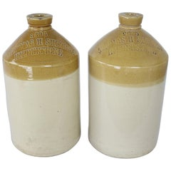 Pair of Staffordshire Brewery Jugs