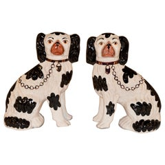 Pair of Staffordshire Spaniels, Mid-20th Century