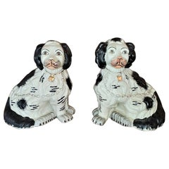 Pair of Staffordshire Style Ceramic Spaniels