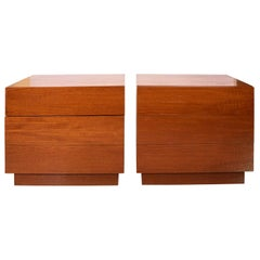 Pair of Stained Birch Bachelor's Chests