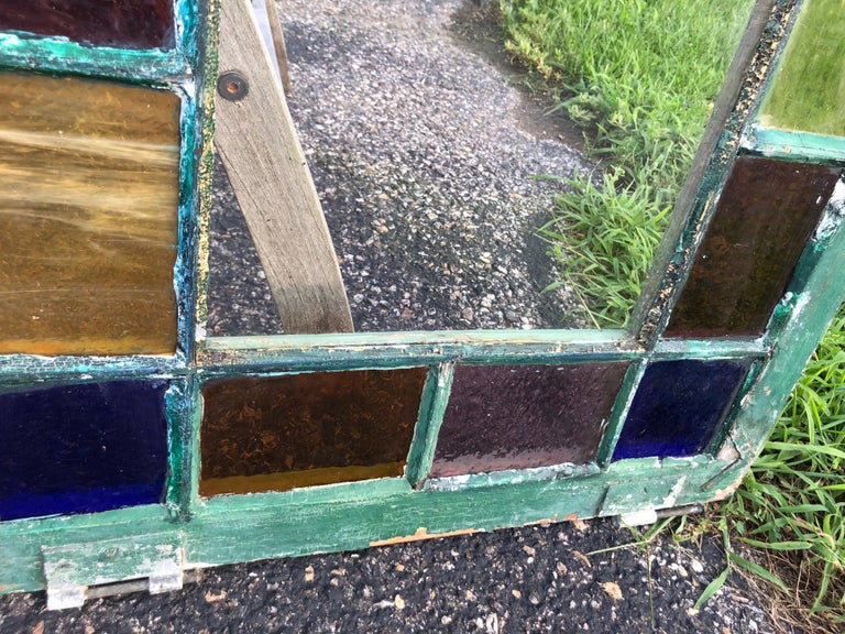 Pair of Stained Glass Windows For Sale 4