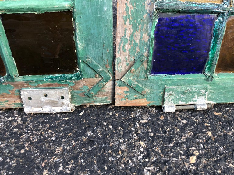 Pair of Stained Glass Windows For Sale 5