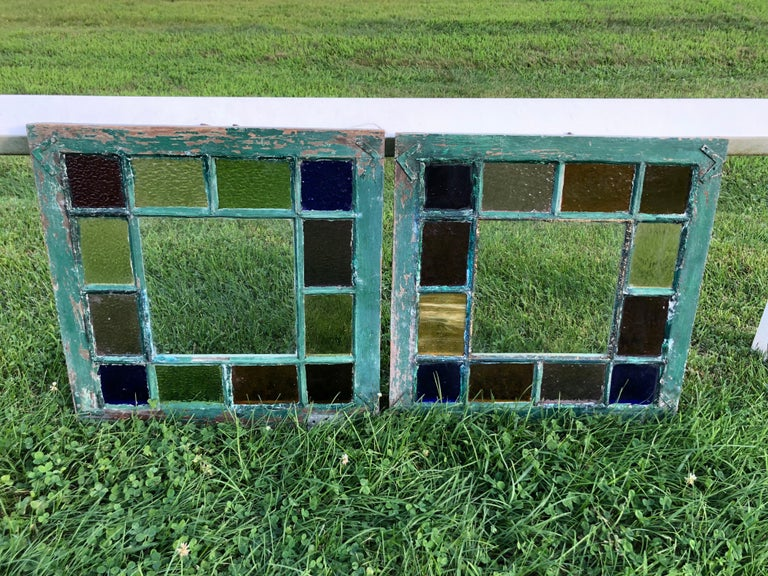 Pair of Stained Glass Windows For Sale 8