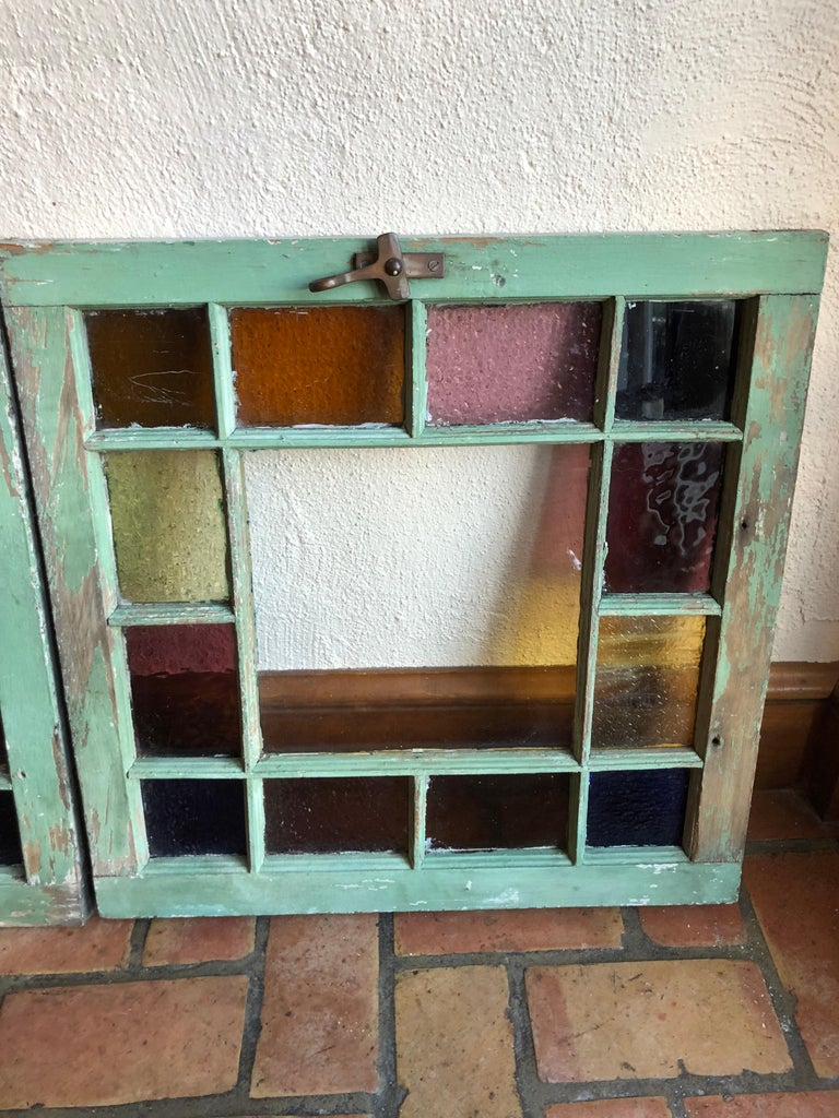 Pair of Stained Glass Windows For Sale 11