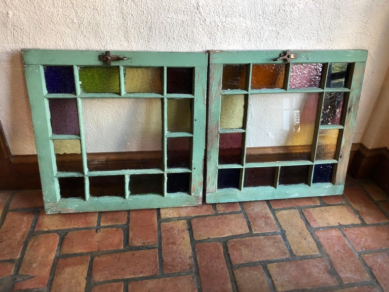 Pair of Stained Glass Windows For Sale 13