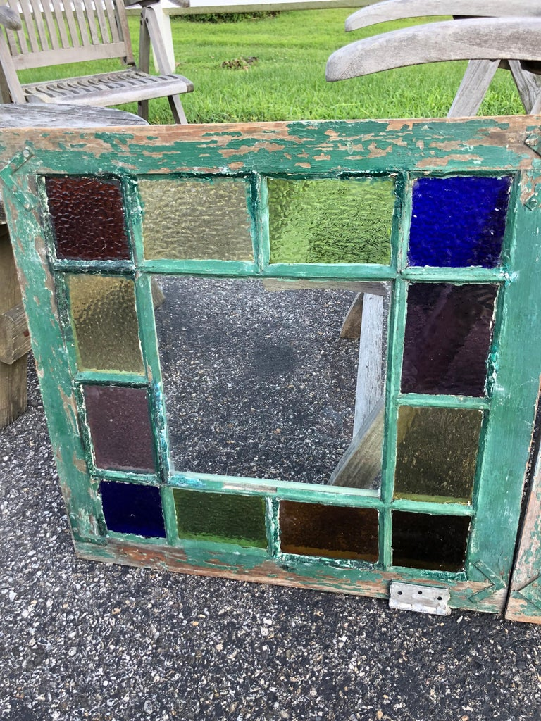 Pair of Stained Glass Windows For Sale 1