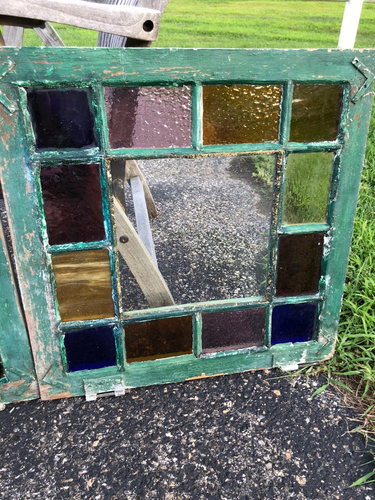 Pair of Stained Glass Windows For Sale 2