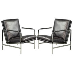 Pair of Stainless Steel Armchairs by Ralph Lauren