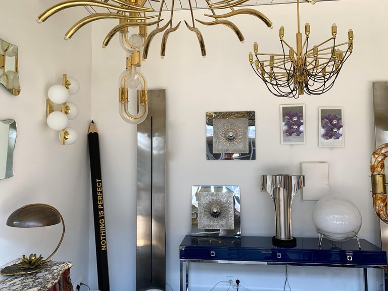 Pair of Stainless Steel Lucite Sconces by A. Brotto for Esperia, Italy, 1970 For Sale 7